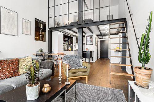 61平工业风格小户型loft装修 硬线条的魅力