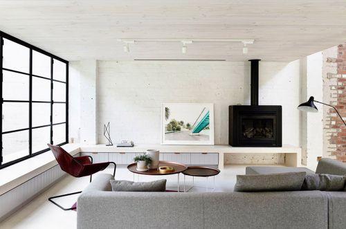 250平工业风格公寓效果图 精致与原始的融合