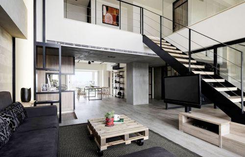 280平工业风格loft公寓装修图 自在安稳
