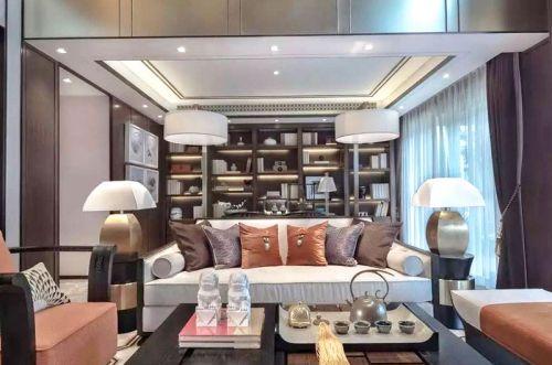 中式东南亚混搭风格样板房装修 大宅风范