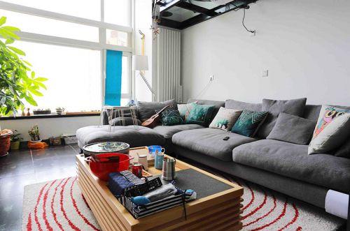 108平工业风格loft装修 理工男的酷感家