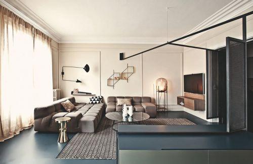 180平米巴黎公寓装修 双重空间结构