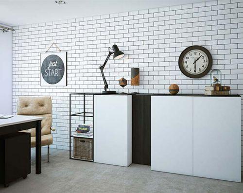 复古轻工业风  120平两居室公寓装修图片