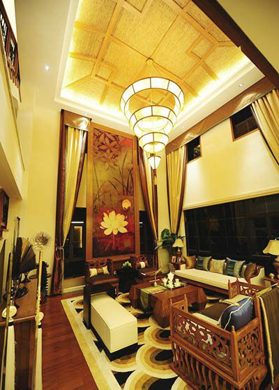 东南亚风情  180平米三居室装修效果图