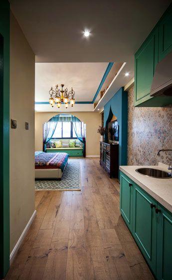 自由波普风 20平米单身公寓装修