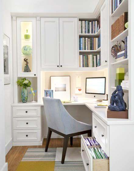 转角空间巧利用 10个创意转角书桌效果图