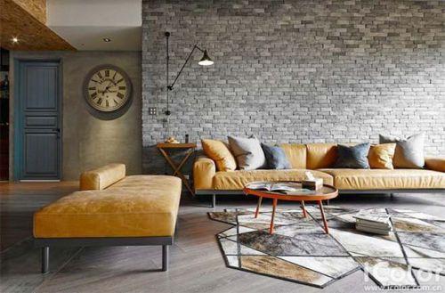 硬线条下的风情 11个工业风格客厅装饰图