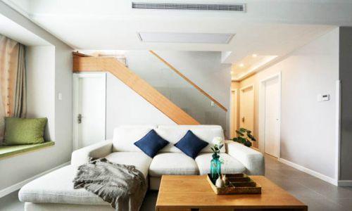 复式房装修效果图 140平米简约原木家