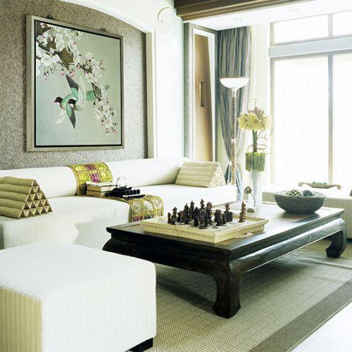 新中式客厅设计 13图大气上演