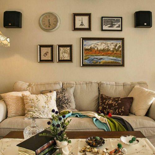 不良房型巧改造 80平四房二厅二卫的美式混搭复式