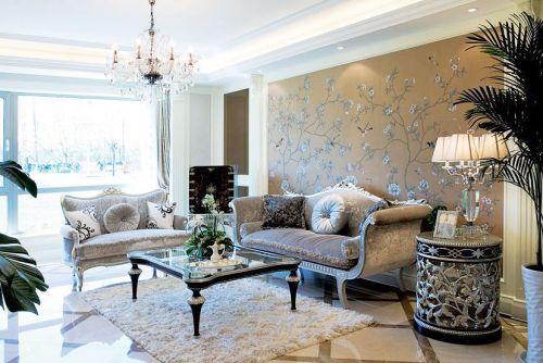 16张新中式沙发背景墙效果图 古典大气