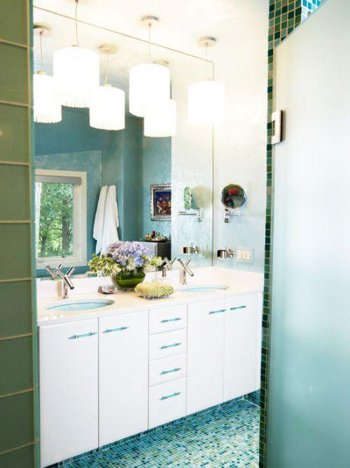 14张白色浴室柜效果图 唯美简欧风