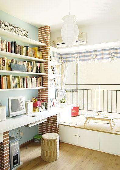 清新田园风 15张书柜设计图