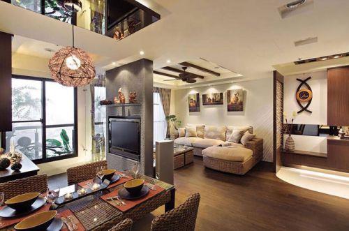 110平雅致休闲三居 东南亚风格设计
