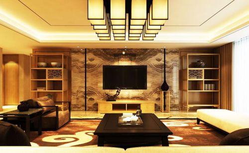 16款新中式客厅 上演大气典雅风
