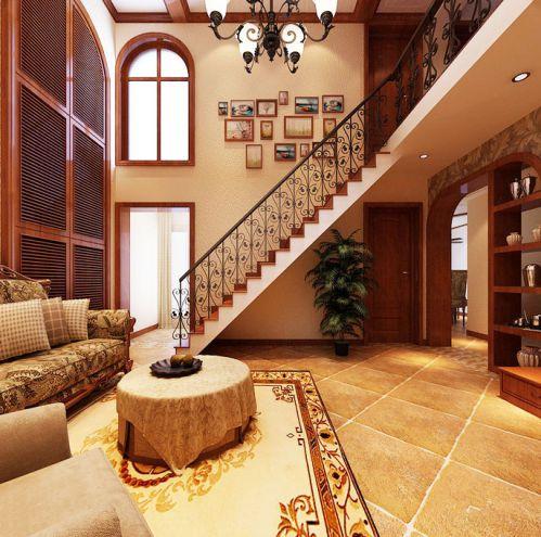 典雅美式风 16张客厅过道设计图