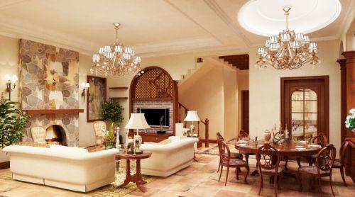 高贵大气的客厅 17张简欧餐桌设计图