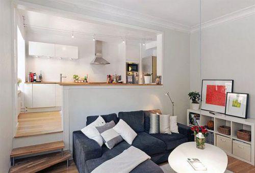拥有复古细节的60平米北欧风格小公寓