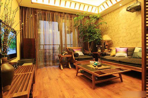 开阔不压抑 70平米东南亚风情两室