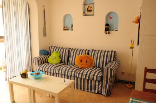 蔚藍色港灣 一室一廳地中海