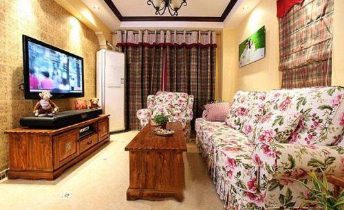 55平米田园原木小户餐厅巧妙隔出儿童房
