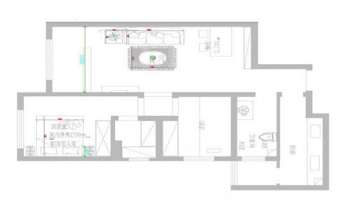 【郑州实创装饰】方圆经纬89平大气的两居装修效果图