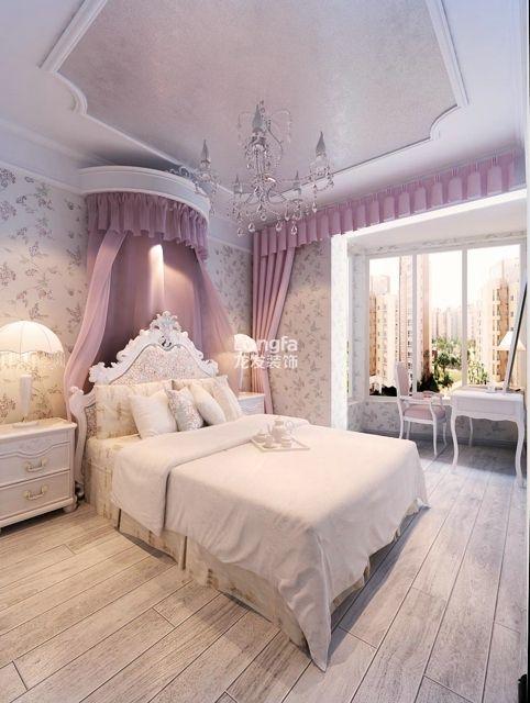 蓝山印象洋房C户型三居室139平米欧式装修美美哒参考图