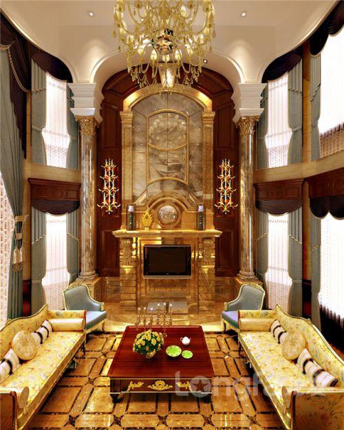 鑫界王府洋房躍層B戶型263.69平歐式風格裝修效果圖