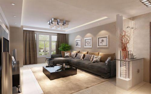 大成門85平兩居室現代風格裝修-煙臺實創裝飾