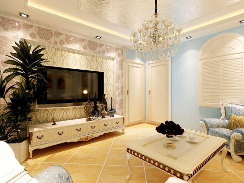 华信家园90平两居室简欧风格装修-烟台实创装饰