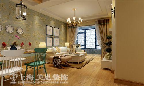贰号城邦装修效果图90平方两室两厅