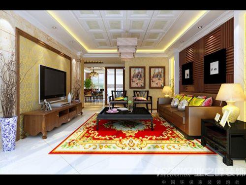 石家庄业之峰装饰-九里庭院跃层240平米新中式风格