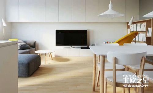 舒适白色小公寓设计