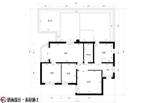 【思雨设计&逅屋施工】《疏影暗香》北京92平米新中式风格设计