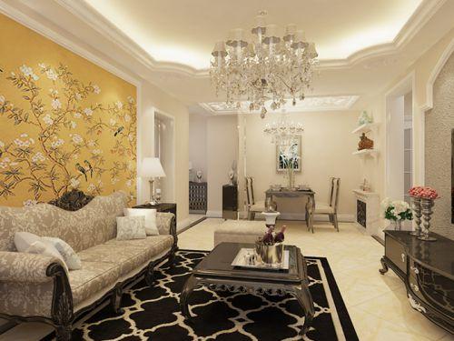 彩虹城1室1厅90平米新古典风格
