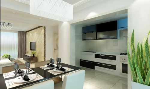 136平现代两居室