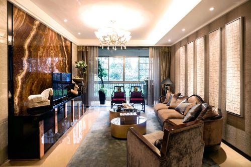 匯金世界城楓丹郡2室2廳128平米中式風格