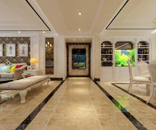 【保利花园装修】保利花园E区四室两厅简欧风格装修效果图