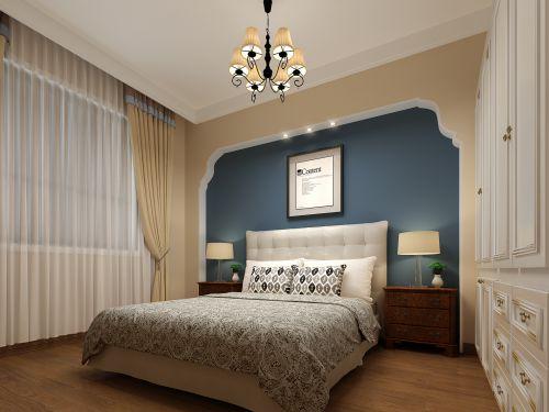 三室房屋蓝色的宁静