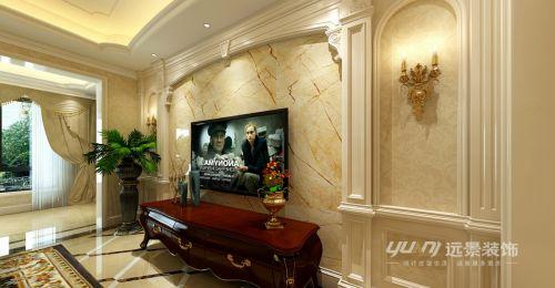 【重庆远景装饰】照母山洋丰圣乔维斯2楼跃层欧美风格装修-设计