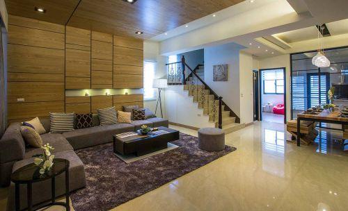 郑州150平现代简约风别墅样板间装修设计实景图