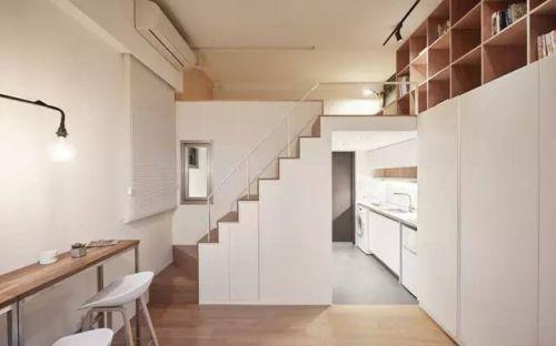 19㎡挑高迷你小公寓,打开门竟别有洞天!