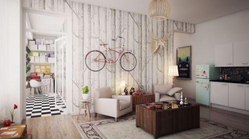 一室一厅现代混搭风格