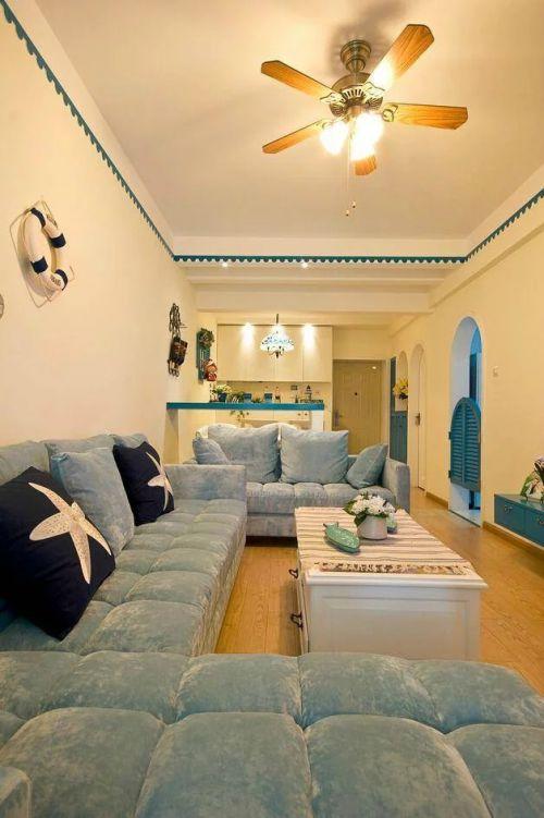 80平纯美地中海两居室案例赏析