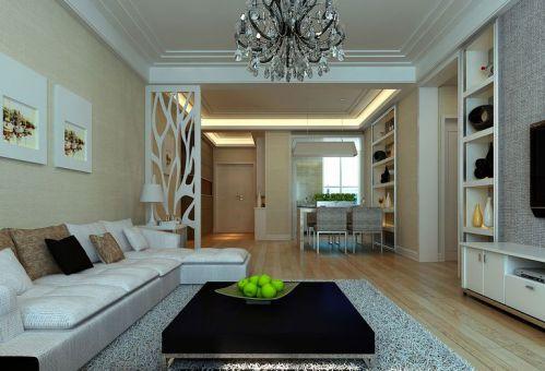 润城112平三室两厅现代简约风格装修效果图