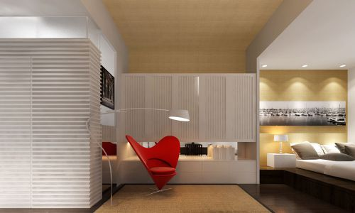 民岳家园52平现代简约风格设计方案