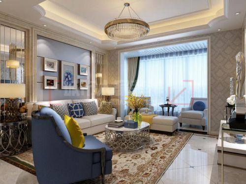 咸阳装修130平米三室两厅简欧风格装修设计效果图