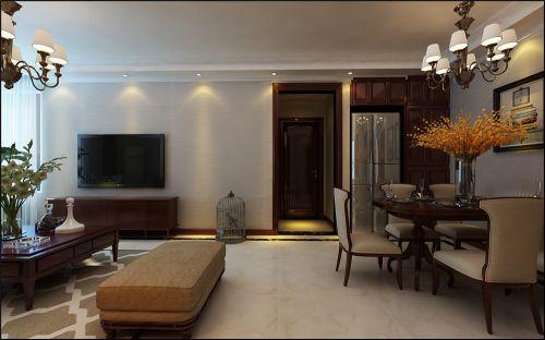 锦绣兰庭三室两厅小美式风格装修效果图