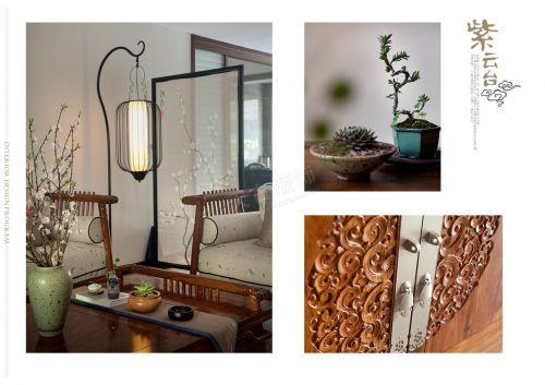 紫云台别墅装修设计|新中式风格|天古装饰设计师马健
