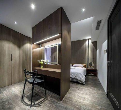 120平米现代简约风格装修设计,黑白灰的最高运用